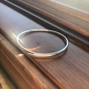 Pandora Liquid Silver Flow Stream Bangle Bracelet